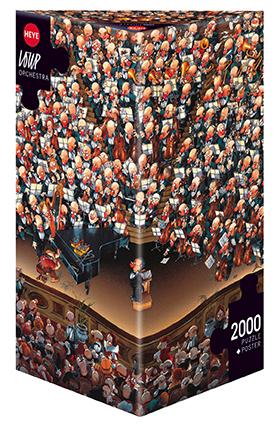 Orchestra - Cartoon im Dreieck