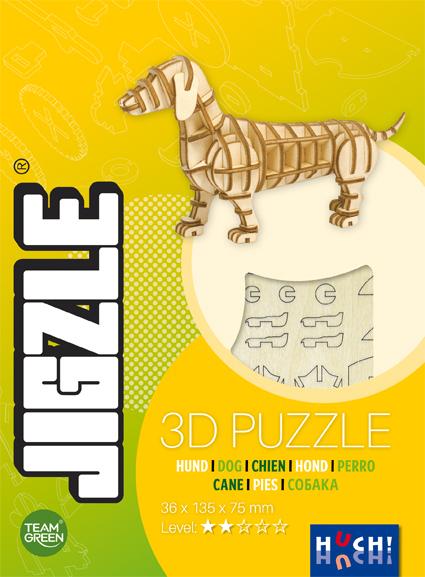 Jigzle 3D Holz-Puzzle Hund
