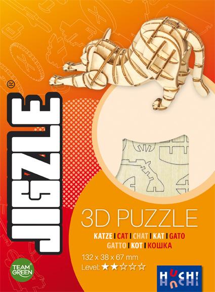 Jigzle 3D Wooden Puzzle Cat