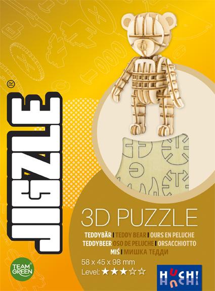 Jigzle 3D Holz-Puzzle Teddybär