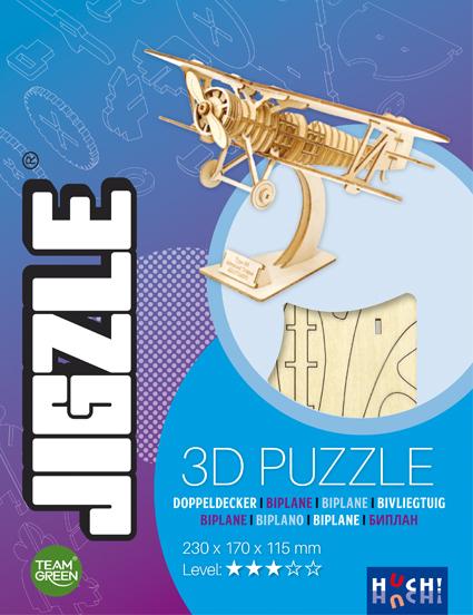 Jigzle 3D Holz-Puzzle Doppeldecker