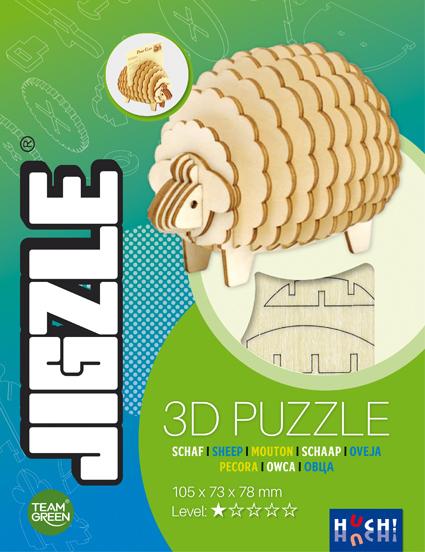 Jigzle 3D Holz-Puzzle Schaf