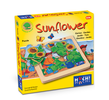 Wooden Line Story Puzzles Sunflower