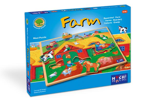 Wooden Line Maxi Puzzles Farm