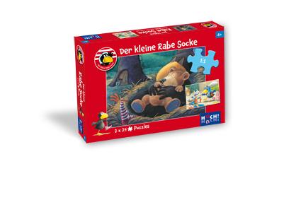Der kleine Rabe Socke – Puzzle 2 x 24 Teile
