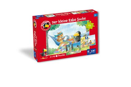 Der kleine Rabe Socke – Puzzle 3 x 48 Teile