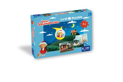 Unser Sandmännchen – Puzzle 3 x 49 Teile