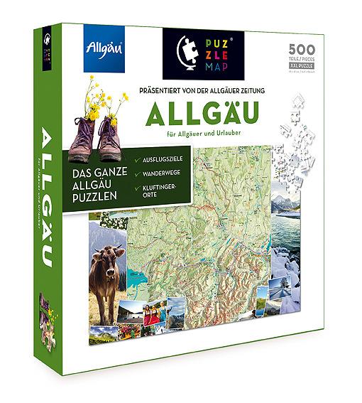 Puzzlemap Allgäu